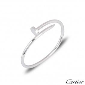 Cartier Unworn White Gold Plain Juste Un Clou Bracelet Size 17 B6048317